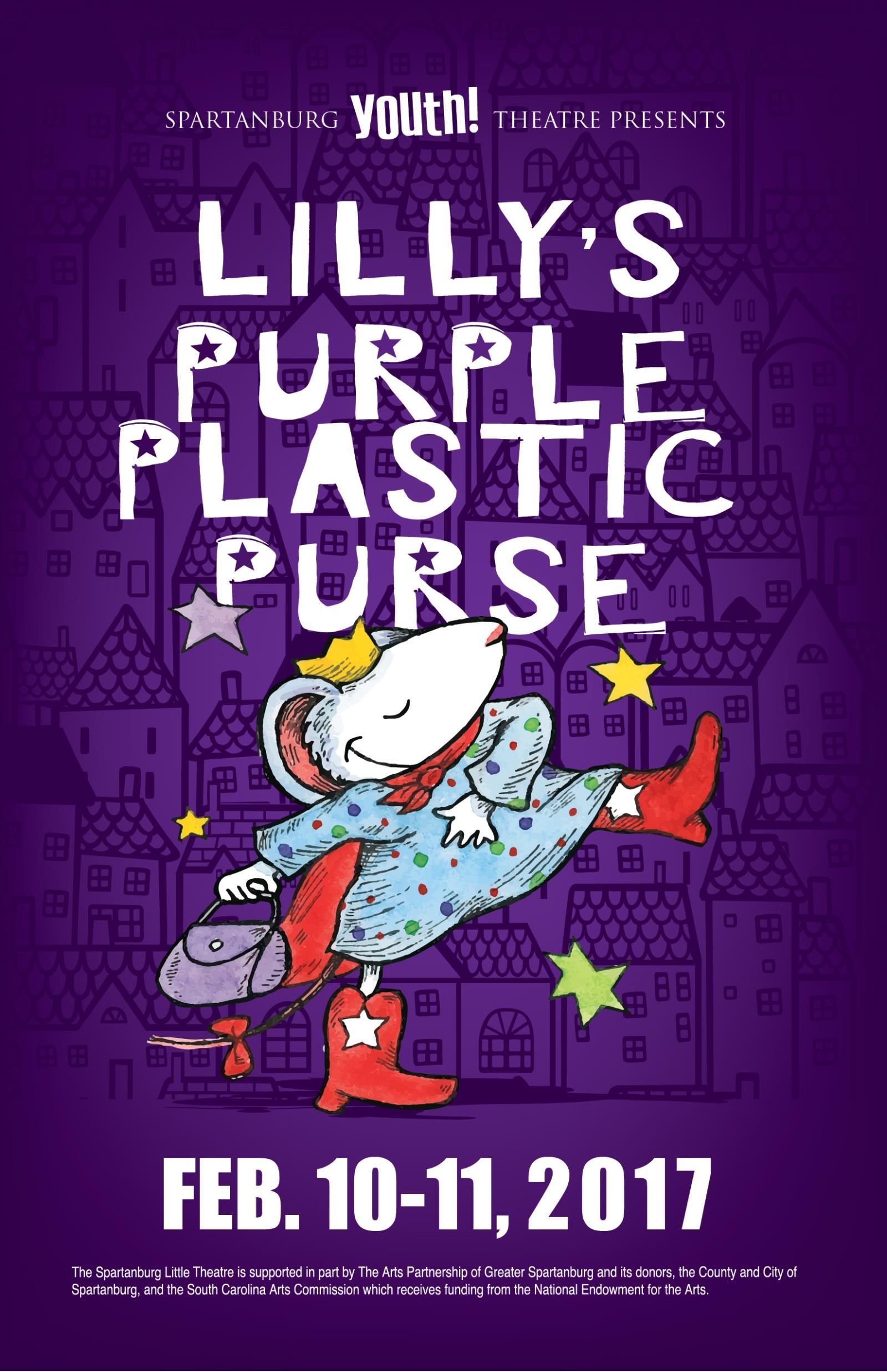 audition workshop lillys purple plastic purse 12 03 16 chapman cultural center